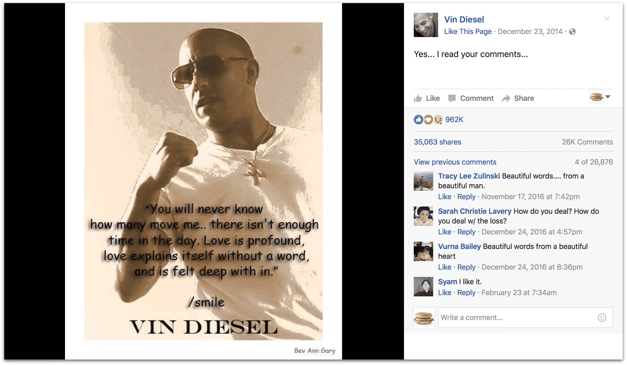 Vin Diesel Inspirational Quotes: 5 Lessons You Can Learn From Vin Diesel's Facebook Page
