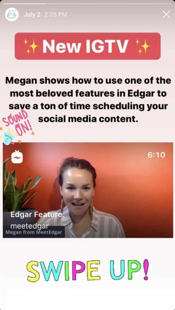 igtv story preview example